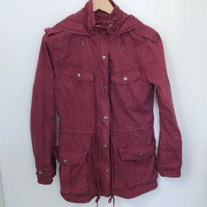Aritzia Talula Burgundy Trooper Jacket